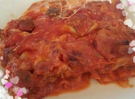 Lasagne con Salsicce e Funghi!
