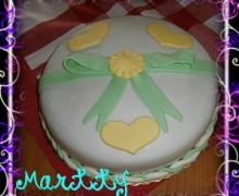 Torta decorata con pdz